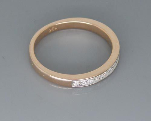 15ct Solid 18K Rose Gold Diamond Wedding Band Ring