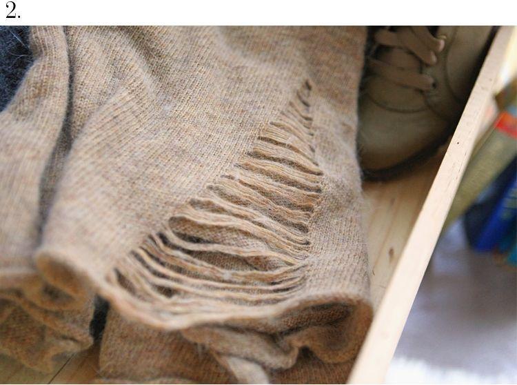 CELEBRITY T43 ANGORA WOOL RIBBED BOHO SWEATER top 123CZ