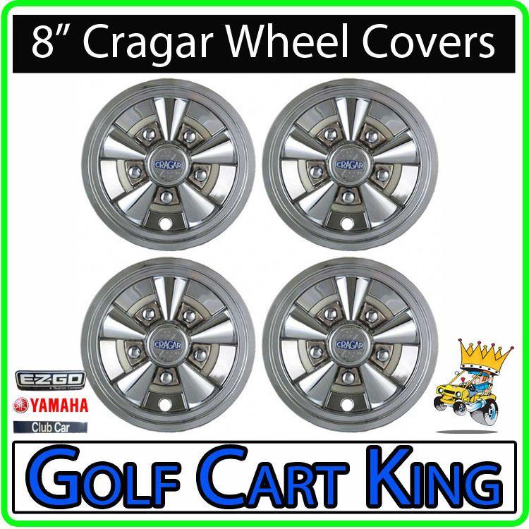NEW 8 Cragar Golf Cart Wheel Covers Hub Caps  Set of 4