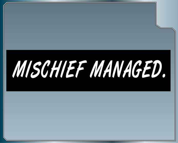 MISCHIEF MANAGED vinyl car decal Funny Harry Potter