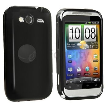 Accessory Leather Case Cover+Car Charger+Cable+Stylus+Mount For HTC