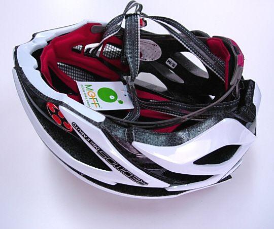 OGK Redimos Carbon Cycling Bicycle Helmet White XL