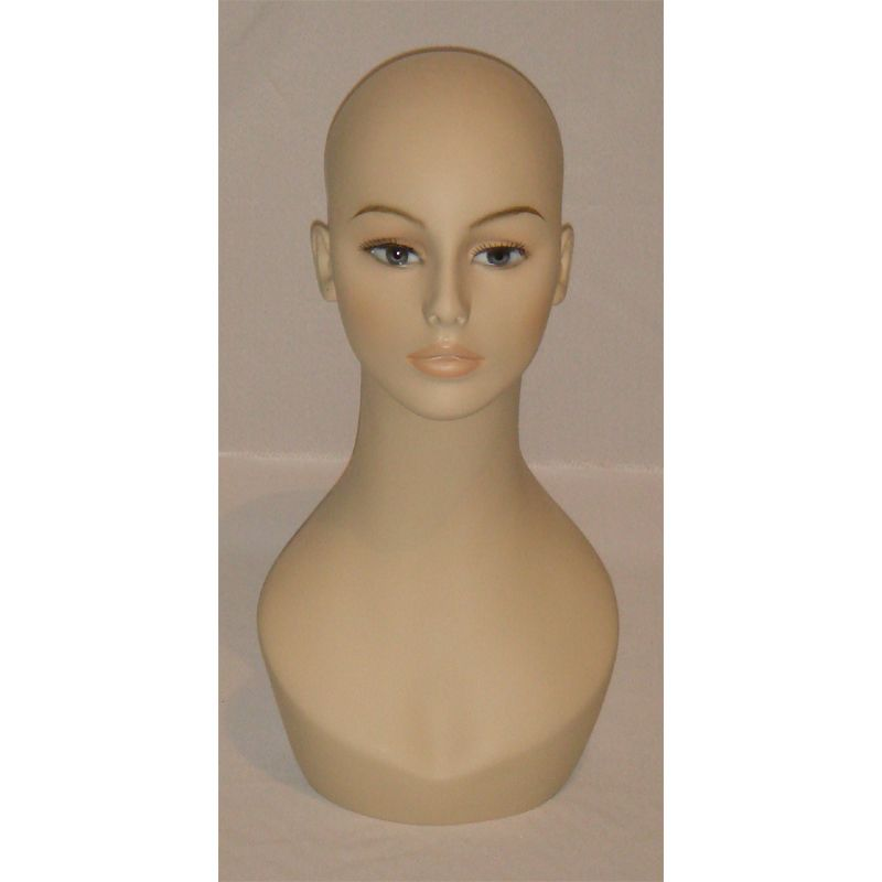 Head WH10 . Female mannequin head. Fiberglass. 19 Height from top to